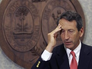 Republican South Carolina Governor, Mark Sanford tries to remember whether he went to Appalachian Trail or Argentina