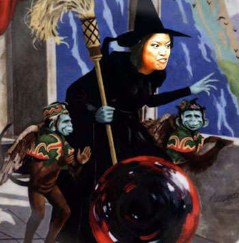Michelle Malkin and her assistants arrive at Fox News studio.